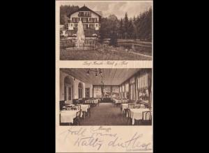 Bayern: Ansichtskarte: Dorf Kreuth - Hotel zur Post