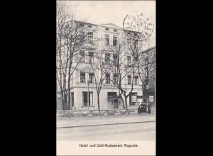 Bayern: Ansichtskarte: Augsburg Hotel Auguste