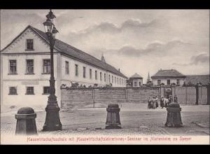 Bayern: Ansichtskarte: Speyer - Hauswirtschaftsschule
