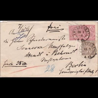 NDP: Brief von Frankfurt nach Berlin 1868