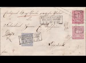 NDP: Ganzsachenumschlag von Keiligenstadt 1870