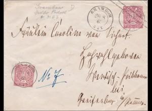 NDP: Ganzsachenumschlag von Grimbuh 1868