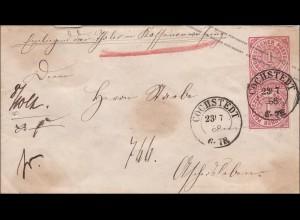 NDP: Ganzsachenumschlag von Cochstedt 1868