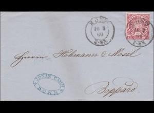 NDP: Brief von Bonn nach Boppard 1868
