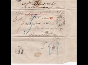 NDP: Brief von Friedland nach Berlin 1869