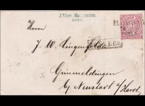 NDP: Brief von Bonn nach Grimmeldingen