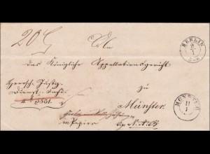 Preussen: Brief von Berlin nach Münster