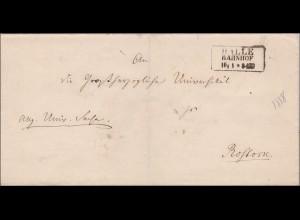 Preussen: Brief von Halle nach Rostock