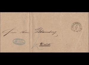 Preussen: Brief von Elberfeld