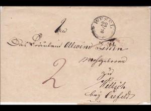 Preussen: Brief von Wesel nach Willich