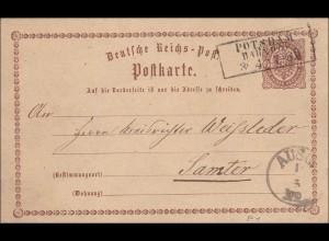 Preussen: Ganzsachenumschlag von Potsdam nach Samter, 1875