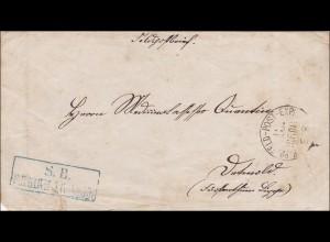 Preussen: Feldpost Brief nach Detmold (Fürstlich)