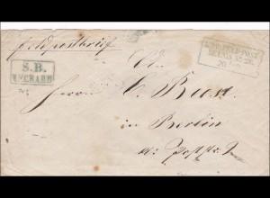 Preussen: Feldpost Brief nach Berlin