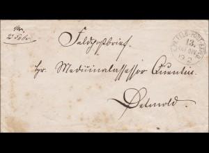 Preussen: Feldpost Brief nach Detmold