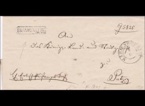 Preussen: Brief von Brandenburg nach Putzig