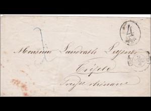 Preussen: Brief von 1863 Lyon/Paris