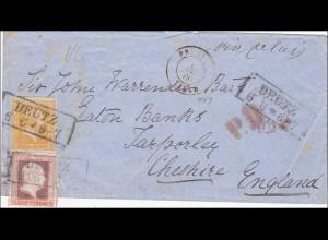 Preussen: Brief von Deutz nach England 1860