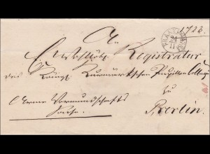 Preussen: Brief von Frankfurt nach Berlin