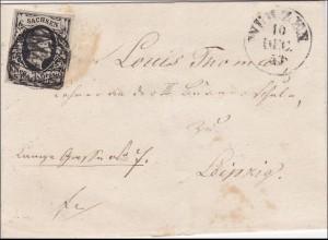 Sachsen: Brief nach Leipzig 1853