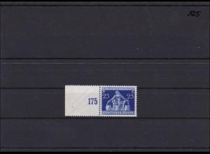 DR MiNr. 620 II ** postfrisch, vom linken Seitenrand