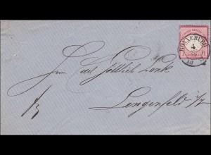 Sachsen: Brief von Ronneburg nach Lengenfeld