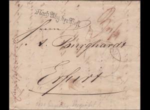 Thurn und Taxis: Brief von Frankfurt nach Erfurt 1830