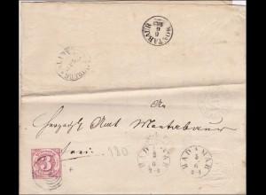 Thurn und Taxis: Brief von 180 nach Montabaur, 1863