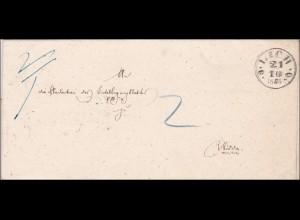 Thurn und Taxis: Brief von Lich nach Nidda1855