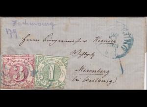 Thurn und Taxis: Brief nach Merenberg bei Weilburg - Seltener Stempel