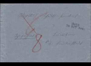 Württemberg: Brief von Horb nach Frankfurt 1841