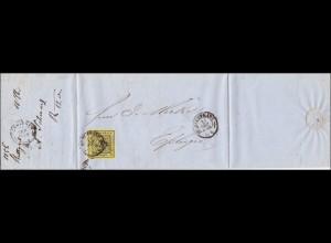 Württemberg: Brief von Stuttgart nach Esslingen 1856