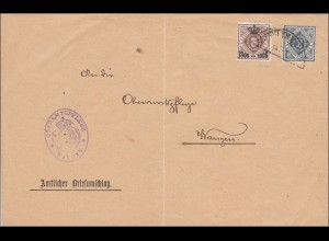 Württemberg: Brief Oberamtspflege Wangen