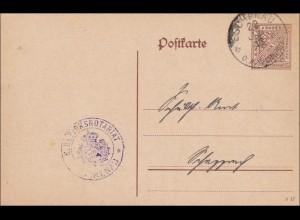 Württemberg: Ganzsache Notariat Eschenau 1918
