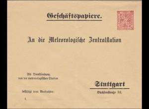 Württemberg: Geschäftspapiere Meteorologische Zentralstation Stuttg. Dub27/036A