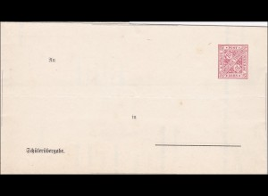 Württemberg: Ganzsache Schülerübergabe DFB 26A