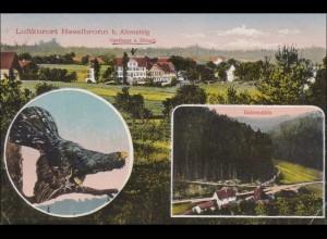 Württemberg: AK Luftkurort Heselbronn bei Altensteig 1912 nach Neuffen