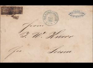 Brief von Braunschweig nach Seesen 1859