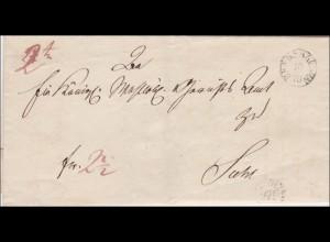 Brief von Bennshag...nach Suhl 1843