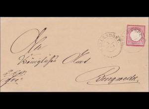 Brief von Möllendorf nach Burgwedel