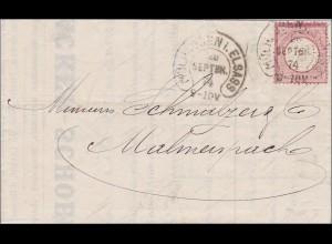 Brief von Mühlhausen/Elsass nach Malmenspach