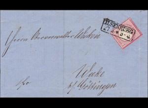 Brief von Ilsenburg nach Wake bei Göttingen 1873