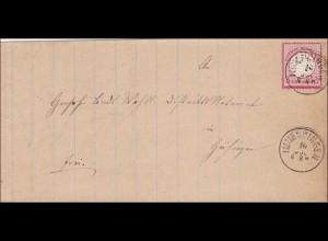 Brief von Immendingen nach Geisingen
