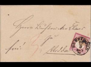 Brief von Büdingen nach Nidda