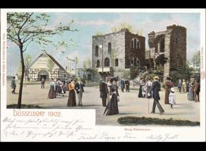 Germania: Ansichtskarte Düsseldorf 1902 nach Offenbach 1902