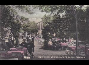 Germania: Ansichtskarte Hamburg Winterhuder Fährhaus nach Portugal 1911