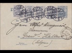 Germania: Postkarte von Metz nach Belgien 1905