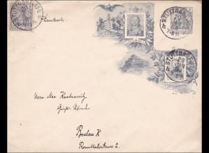 Germania: Ganzsachenumschlag von Stuttgart nach Breslau - Drucksache - 1906