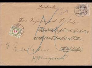 Germania: Drucksache Brief von Berlin in die Schweiz - Taxe 1908