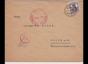 Germania: Brief Kölner Akademischen Sport Club nach Hallos - geprüft