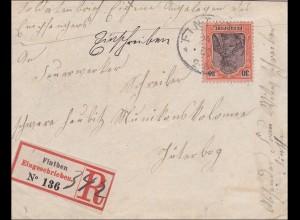 Germania: Einschreibebrief aus Finthen nach Jüterbog 1900